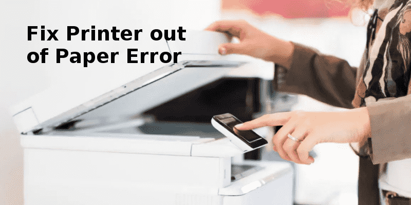 printer out of paper