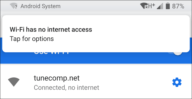 Why does my WiFi say connected but no Internet?